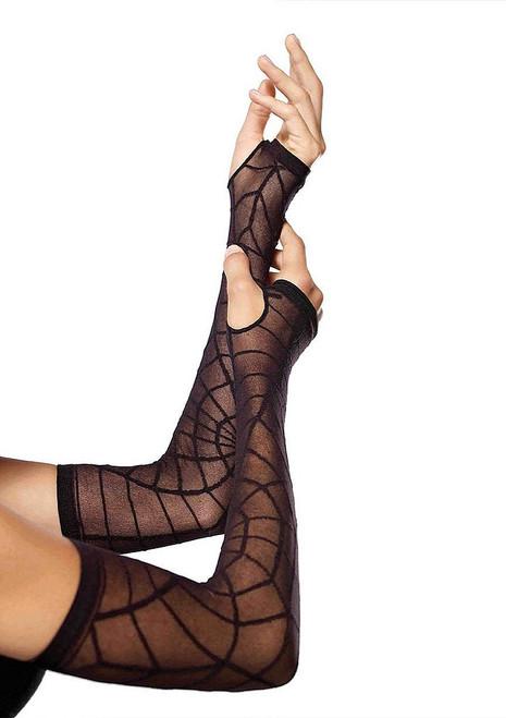 Spiderweb Long Gloves