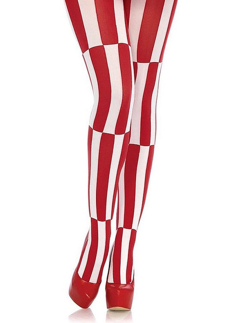 Illusion tights Red