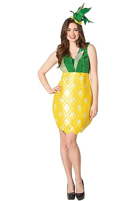 Pineapple Dress Womens Costume