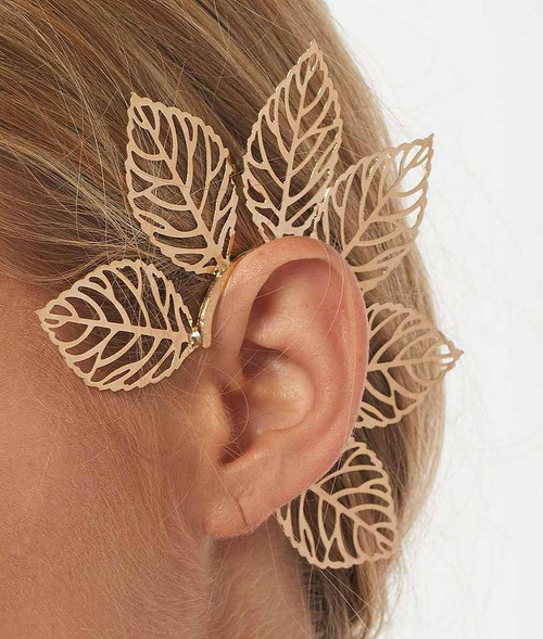 Ear Cuff Gold Bloom