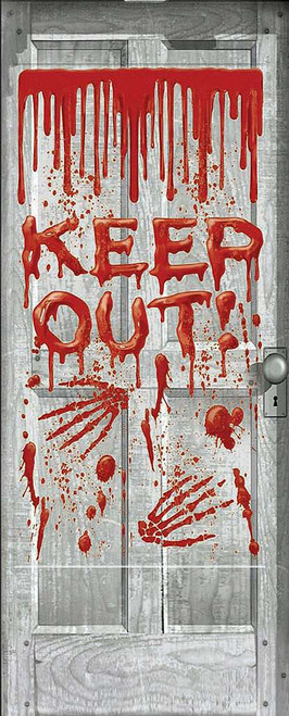 Keep Out Giant Door Cover Decoration