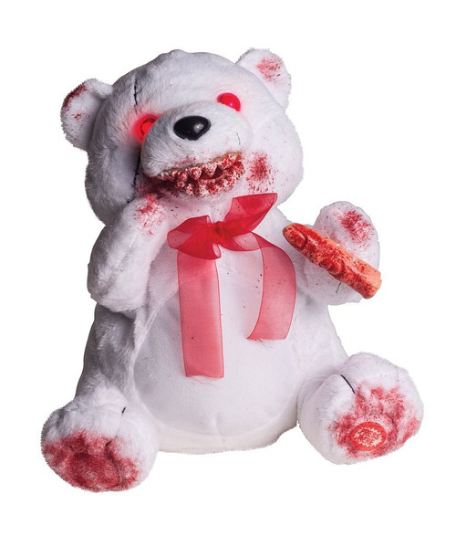 Bloody Fuzzy Bear Halloween Decor