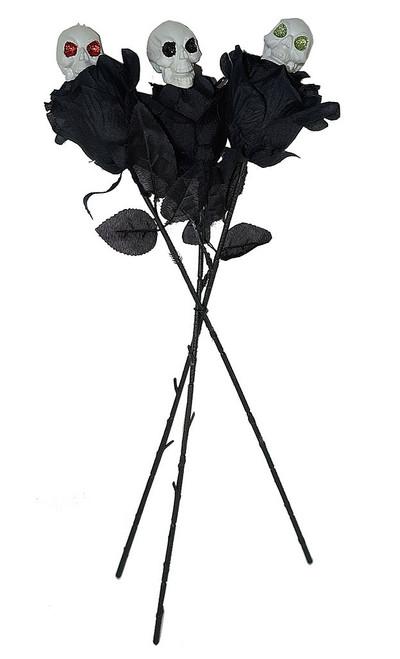 3 Skull Black Roses