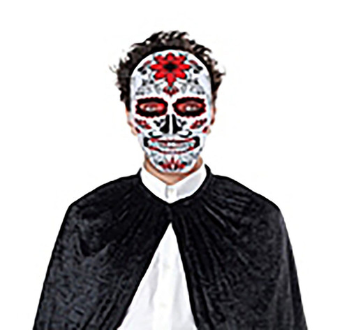 Day of the Dead Red Skull Mask