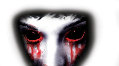 Creepy Vampire Eyes Window Cling