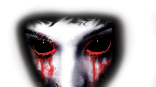 Creepy Vampire Eyes Window Cling