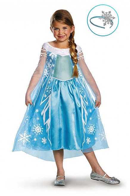 Frozen Elsa Girl Costume with Headband