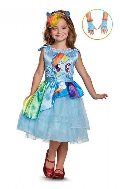 Rainbow Dash Girl Costume and Gloves