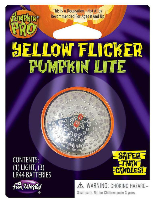 Yellow Flicker No Candle Pumpkin Lights