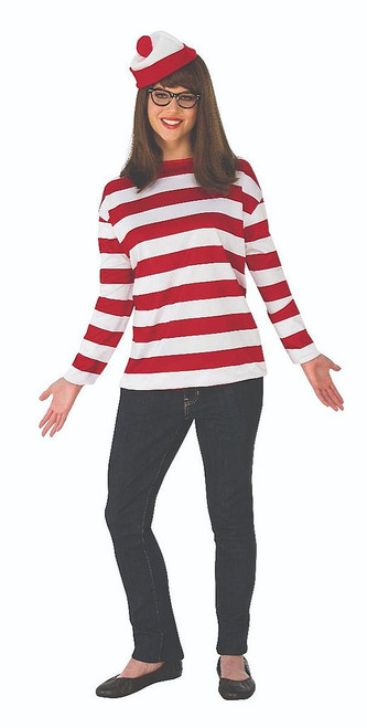 Where's Waldo Adult Wenda Costume Plus