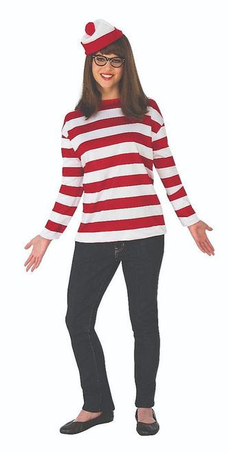 Where's Waldo Adult Wenda Costume Plus