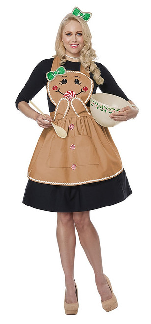 Gingerbread Adult Apron