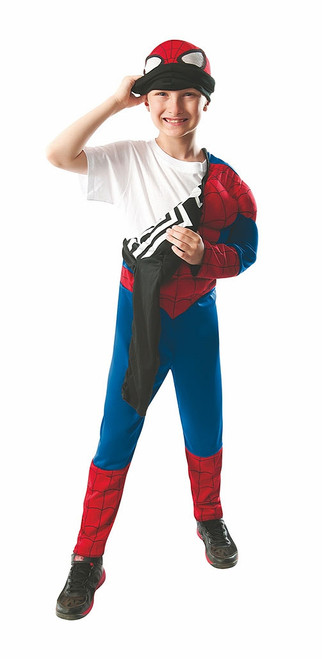 Spiderman 2 in 1 Deluxe Kids Costume