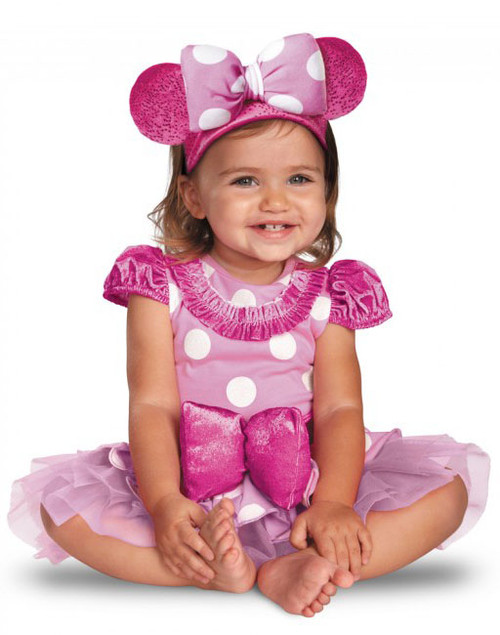 Pink Minnie Baby Girl Costume