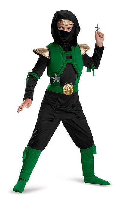 Green Master Ninja Boy Costume