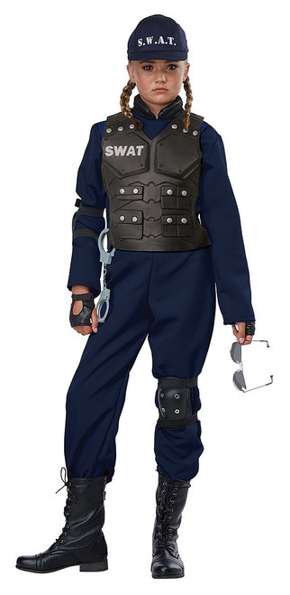 SWAT Police Girl Costume