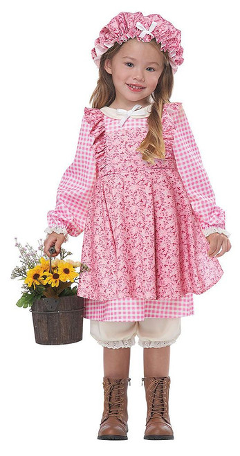 Peasant Little Prairie Pink Girl Costume