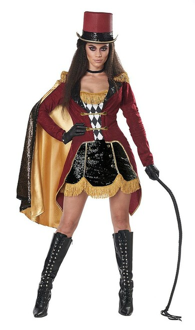 Dazzling Ringmaster Woman Costume