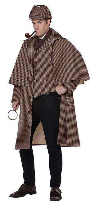 English Detective Sherlock Holmes Man Costume
