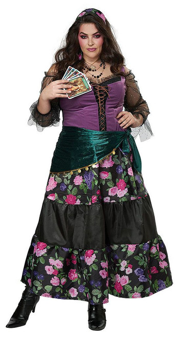 Fortune Teller Gypsy Woman Plus Costume