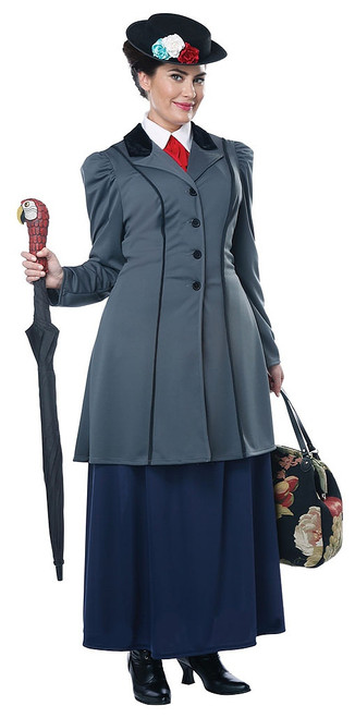 English Nanny Woman Plus Costume