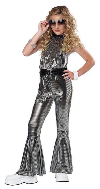 Disco Dancing Queen Girl Costume