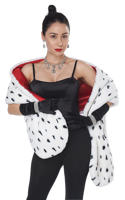 Dog Faux Dalmatian Stole Costume