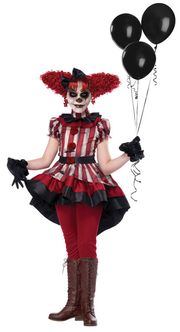 Creepy Wicked Clown Girl Costume