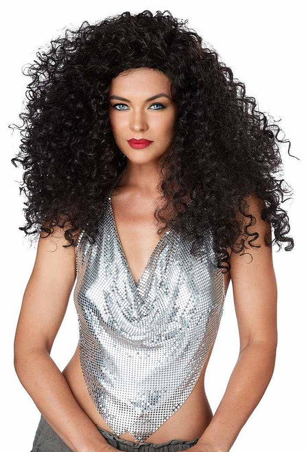 Disco Diva Long Curly Wig