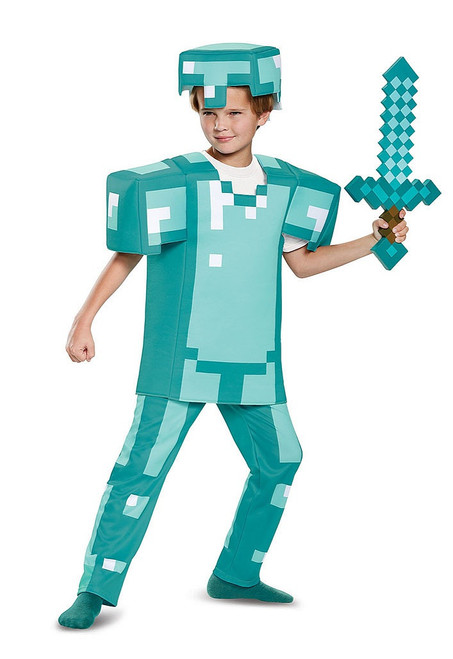 Minecraft Armor Boy Costume