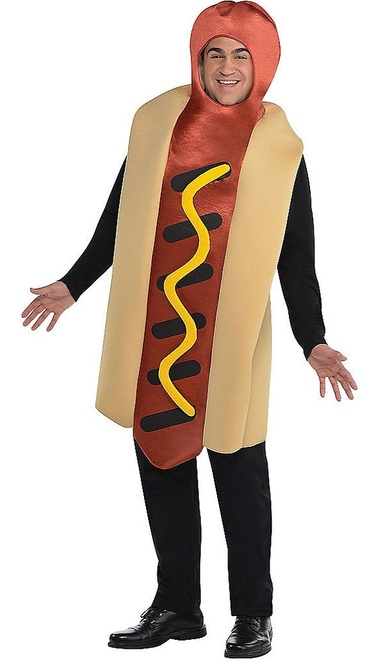 Hot Dog Man Costume Plus