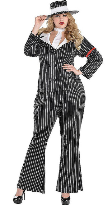 Gangster Womens Costume Plus