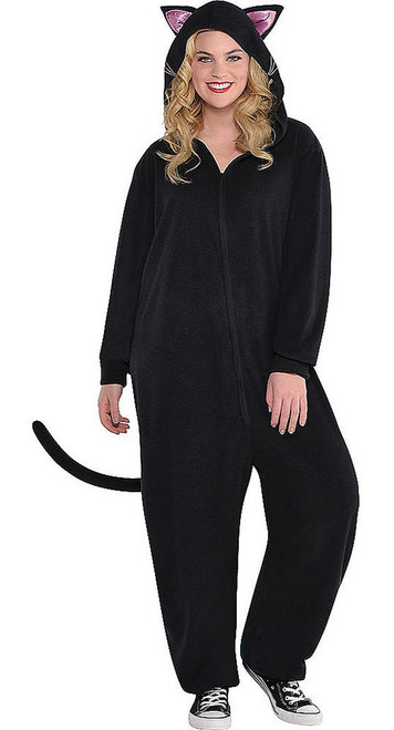 Black Cat Womens Onesie Plus