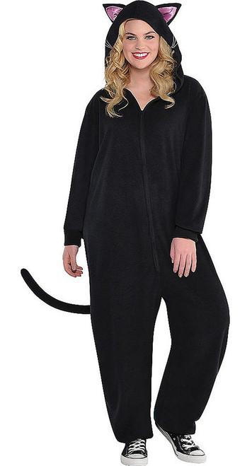 Black Cat Womens Onesie Plus