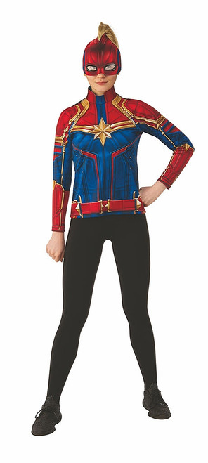 Captain Marvel Adult Costume Top