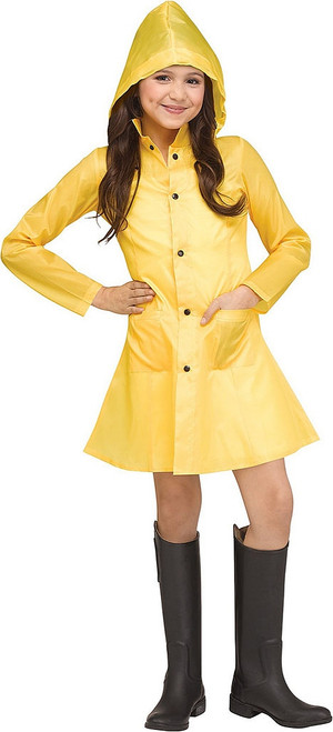IT Yellow Raincoat Girl Costume