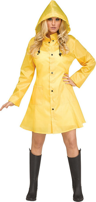IT Yellow Raincoat Woman Costume