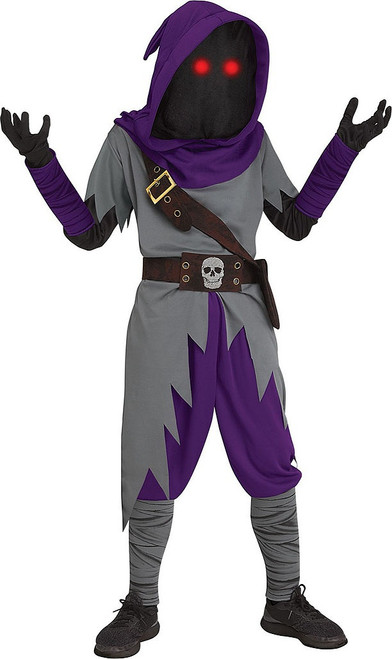 Fortnite inspired Raven Mage Fade in Out Boy Costume