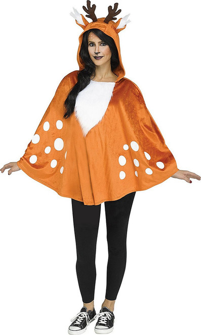 Faun Deer Poncho Woman Costume