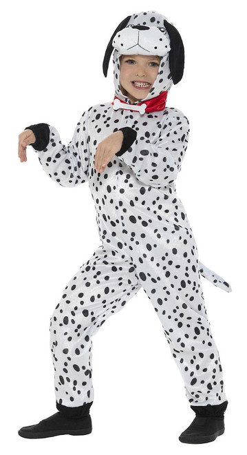 Dalmatian Hooded Jumpsuit Girl Costume