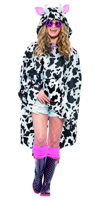 Cow Party Poncho Woman Costume