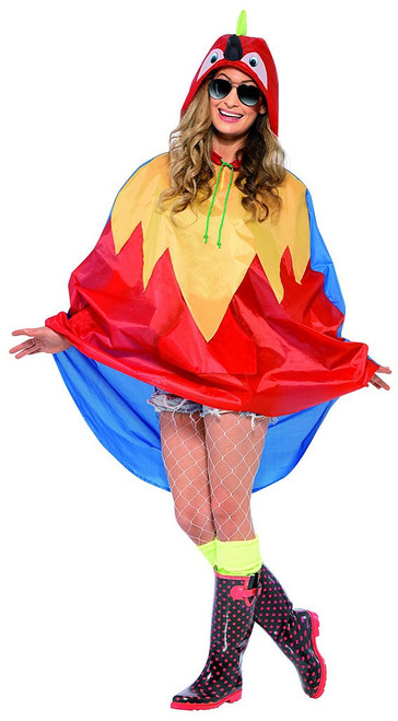 Parrot Party Poncho Woman Costume