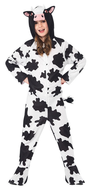 Cow Hooded Jumpsuit Girl Costume