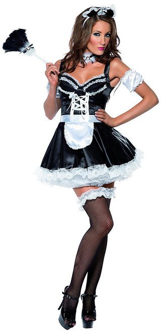 Flirty French Maid Woman Costume