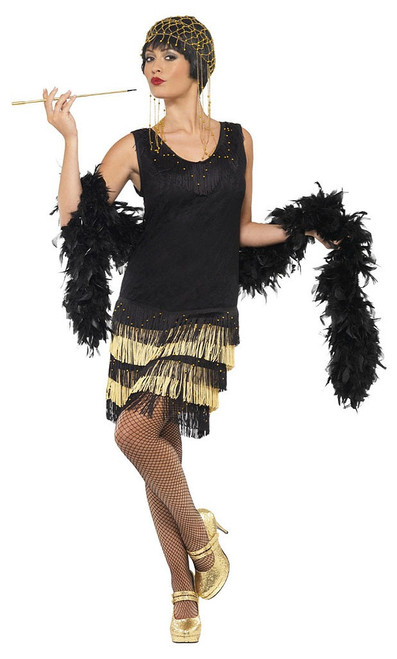 1920s Fringed Flapper Woman Costume