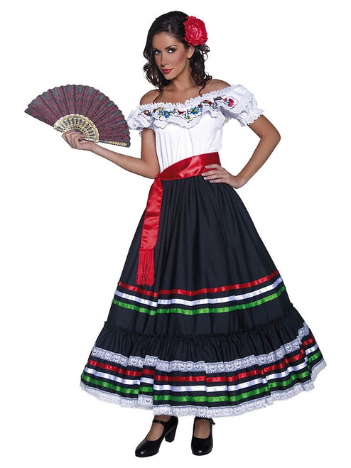 Mexican Dancer Woman Costume
