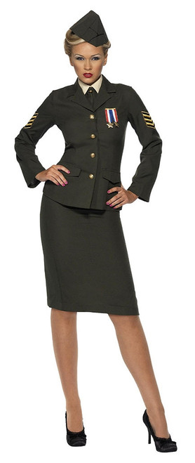 Wartime Officer Woman Costume