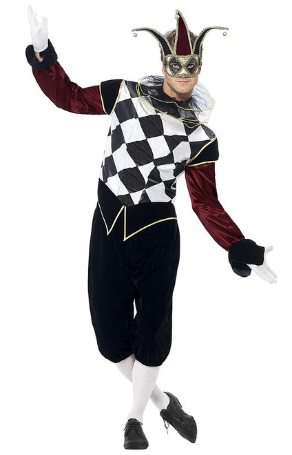 Gothic Venetian Harlequin Man Costume