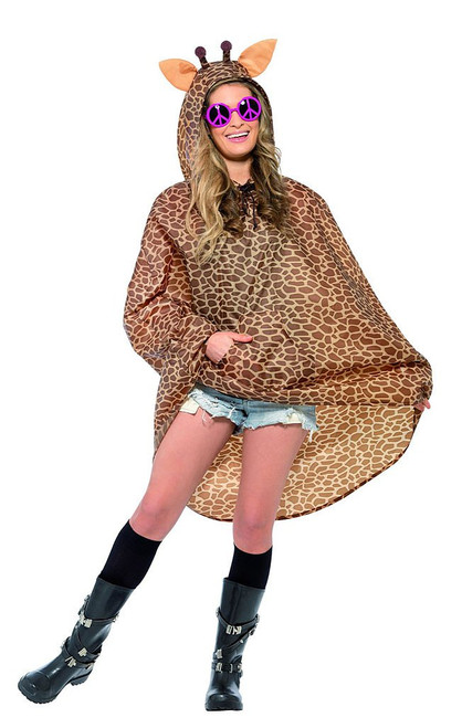 Giraffe Party Poncho Woman Costume