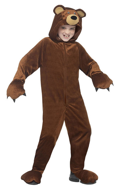 Bear Hooded Jumpsuit Girl Costume